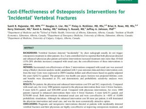 Cost-Effectiveness of Osteoporosis Interventions for 'Incidental' Vertebral Fractures
